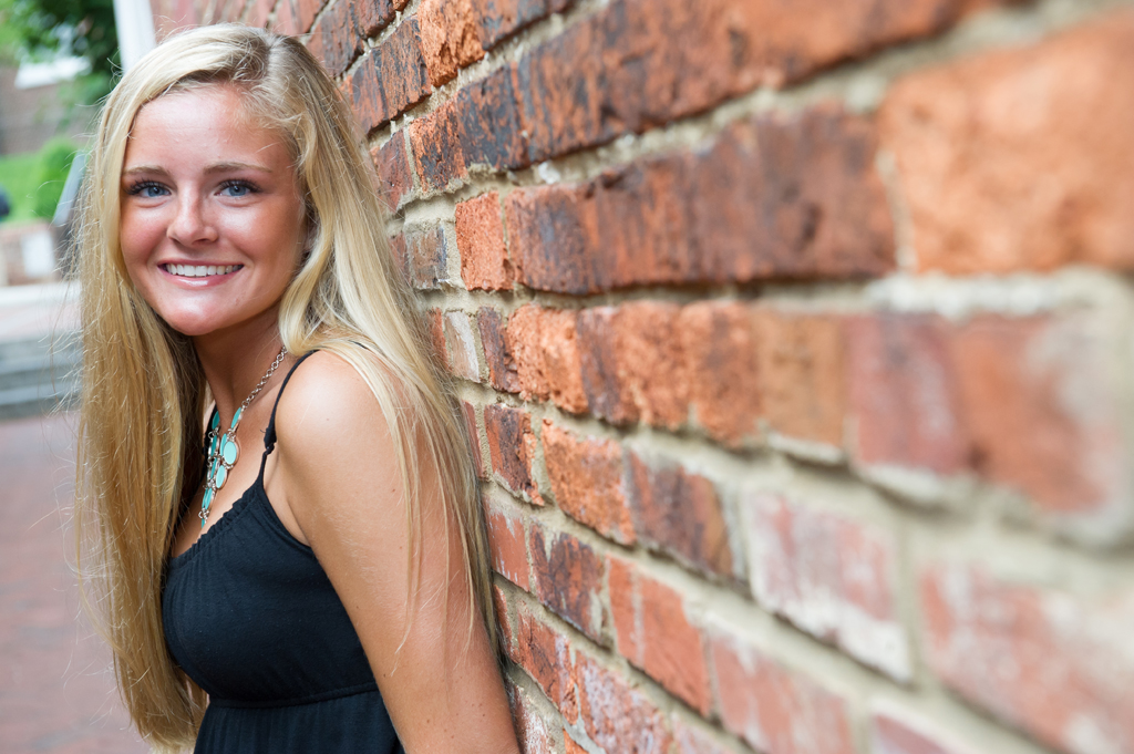 high school senior in downtown Annapolis